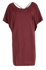 IKKS |  Silk dress Hanna | bordeaux  | Picture 1