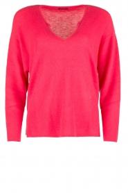 IKKS   Trui Framboise V-hals   roze    Afbeelding 1