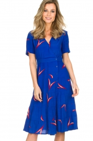 ba&sh |  Printed dress Tais | blue  | Picture 2