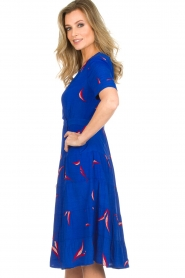 ba&sh |  Printed dress Tais | blue  | Picture 4