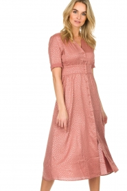 ba&sh |  Midi dress with dots Gala | pink  | Picture 2