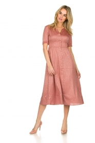ba&sh |  Midi dress with dots Gala | pink  | Picture 3