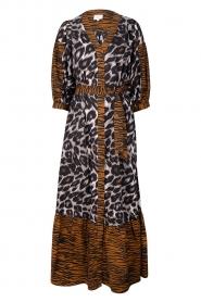 Dante 6 |  Maxi dress with animal print Alma | brown  | Picture 1