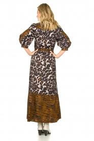 Dante 6 |  Maxi dress with animal print Alma | brown  | Picture 6