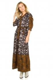 Dante 6 |  Maxi dress with animal print Alma | brown  | Picture 2