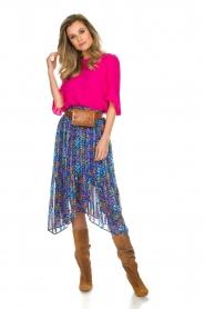 ba&sh |  Floral midi skirt Romeo | blue  | Picture 3