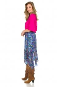 ba&sh |  Floral midi skirt Romeo | blue  | Picture 4