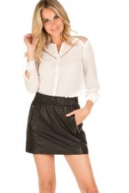 IKKS | Zijden blouse Onno | wit  | Afbeelding 5
