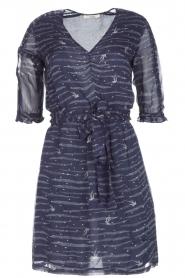 Sessun | Zwierige jurk Koan | donkerblauw  | Afbeelding 1