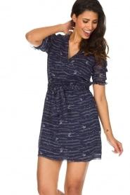 Sessun | Zwierige jurk Koan | donkerblauw  | Afbeelding 2