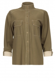 D-ETOILES CASIOPE |  Travelwear blouse Bahamas | green  | Picture 1