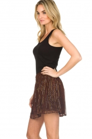 ba&sh |  Printed skirt with lurex West | black  | Picture 4