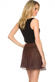 ba&sh |  Printed skirt with lurex West | black  | Picture 5