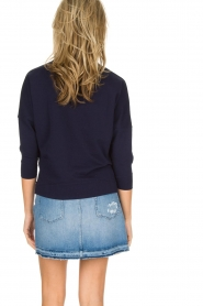 Sessun |  Sweater with embroidery Eko | dark blue  | Picture 5