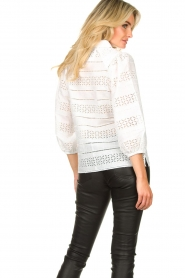 Dante 6 |  Ajour blouse Laureene | white  | Picture 7