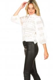 Dante 6 |  Ajour blouse Laureene | white  | Picture 6