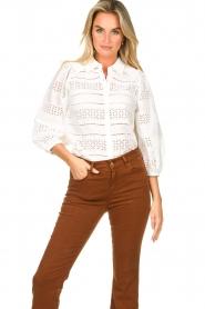 Dante 6 |  Ajour blouse Laureene | white  | Picture 2