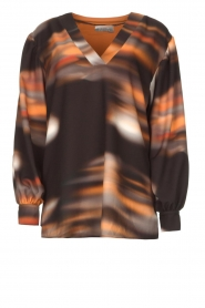 D-ETOILES CASIOPE |  Travelwear top with tie dye Baleine | black  | Picture 1