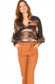 D-ETOILES CASIOPE |  Travelwear top with tie-dye Baleine | black  | Picture 5