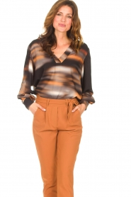 D-ETOILES CASIOPE |  Travelwear top with tie-dye Baleine | black  | Picture 2