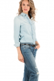 7 For All Mankind | Denim blouse Rodeo | light blauw   | Afbeelding 4