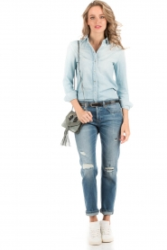 7 For All Mankind | Denim blouse Rodeo | light blauw   | Afbeelding 3
