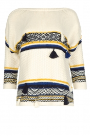 Sessun |  Knitted sweater Kachina | broken white  | Picture 1