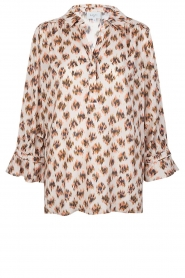 Dante 6 |  Print blouse Willow | brown  | Picture 1