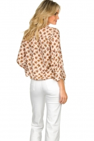 Dante 6 |  Print blouse Willow | brown  | Picture 6