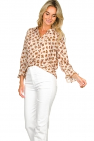 Dante 6 |  Print blouse Willow | brown  | Picture 4
