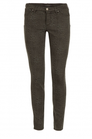 IKKS |  Jeans with leopard print Verle | grey   | Picture 1