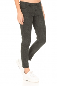 IKKS |  Jeans with leopard print Verle | grey   | Picture 4