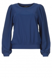 D-ETOILES CASIOPE |  Travelwear sweater with puff sleeves Barbados | blue  | Picture 1
