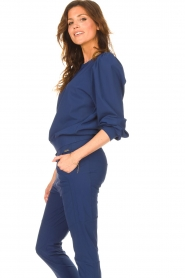 D-ETOILES CASIOPE |  Travelwear sweater with puff sleeves Barbados | blue  | Picture 6
