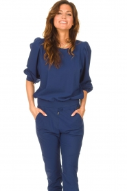 D-ETOILES CASIOPE |  Travelwear sweater with puff sleeves Barbados | blue  | Picture 4