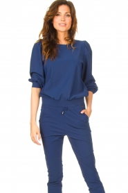 D-ETOILES CASIOPE |  Travelwear sweater with puff sleeves Barbados | blue  | Picture 2