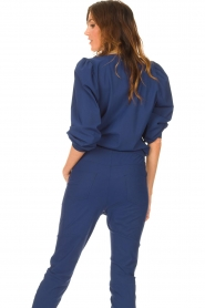 D-ETOILES CASIOPE |  Travelwear sweater with puff sleeves Barbados | blue  | Picture 7