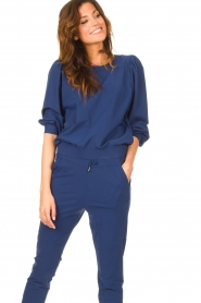 D-ETOILES CASIOPE |  Travelwear sweater with puff sleeves Barbados | blue  | Picture 5