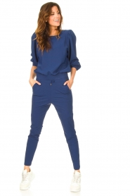 D-ETOILES CASIOPE |  Travelwear sweater with puff sleeves Barbados | blue  | Picture 3