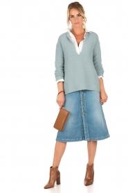 High waist denim skirt Victoria | blue