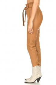Dante 6 |  Leather paperbag pants Duncan | camel  | Picture 6