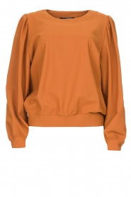 D-ETOILES CASIOPE |  Travelwear sweatshirt with puff sleeves Barbados | camel  | Picture 1