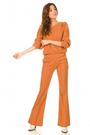 D-ETOILES CASIOPE |  Travelwear sweatshirt with puff sleeves Barbados | camel  | Picture 3