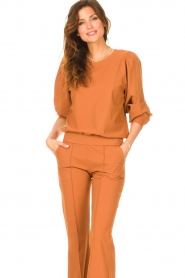 D-ETOILES CASIOPE |  Travelwear sweatshirt with puff sleeves Barbados | camel  | Picture 4