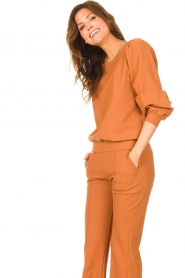 D-ETOILES CASIOPE |  Travelwear sweatshirt with puff sleeves Barbados | camel  | Picture 5