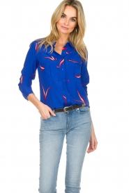 ba&sh |  Printed blouse Terry | blue  | Picture 2
