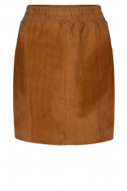 Dante 6 |  Leather skirt with seams Eshvi | camel  | Picture 1