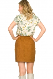 Dante 6 |  Leather skirt with seams Eshvi | camel  | Picture 6