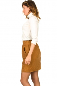 Dante 6 |  Leather skirt with seams Eshvi | camel  | Picture 5