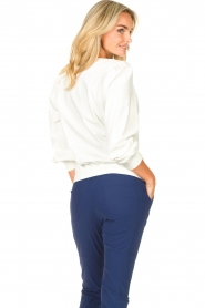D-ETOILES CASIOPE |  Travelwear sweatshirt with puff sleeves Barbados | natural  | Picture 7